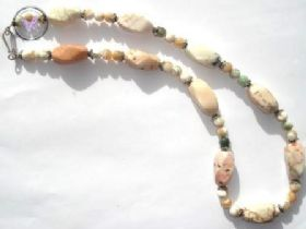 Howlite & Mother Of Pearl Healing Necklace